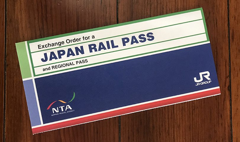 Exchange Order del Japan Rail Pass